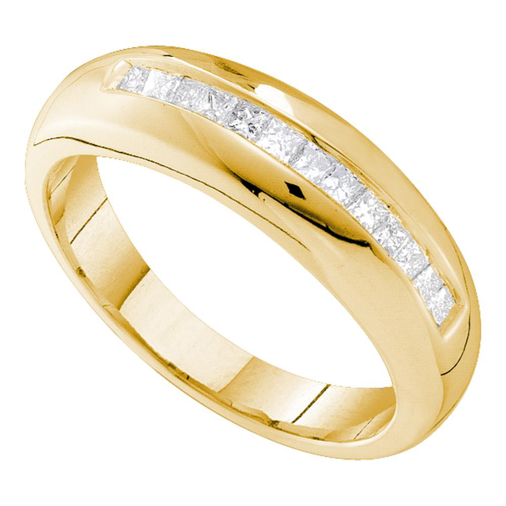 wide ct eternity mm rings bands way ring all gold yellow diamond mens band