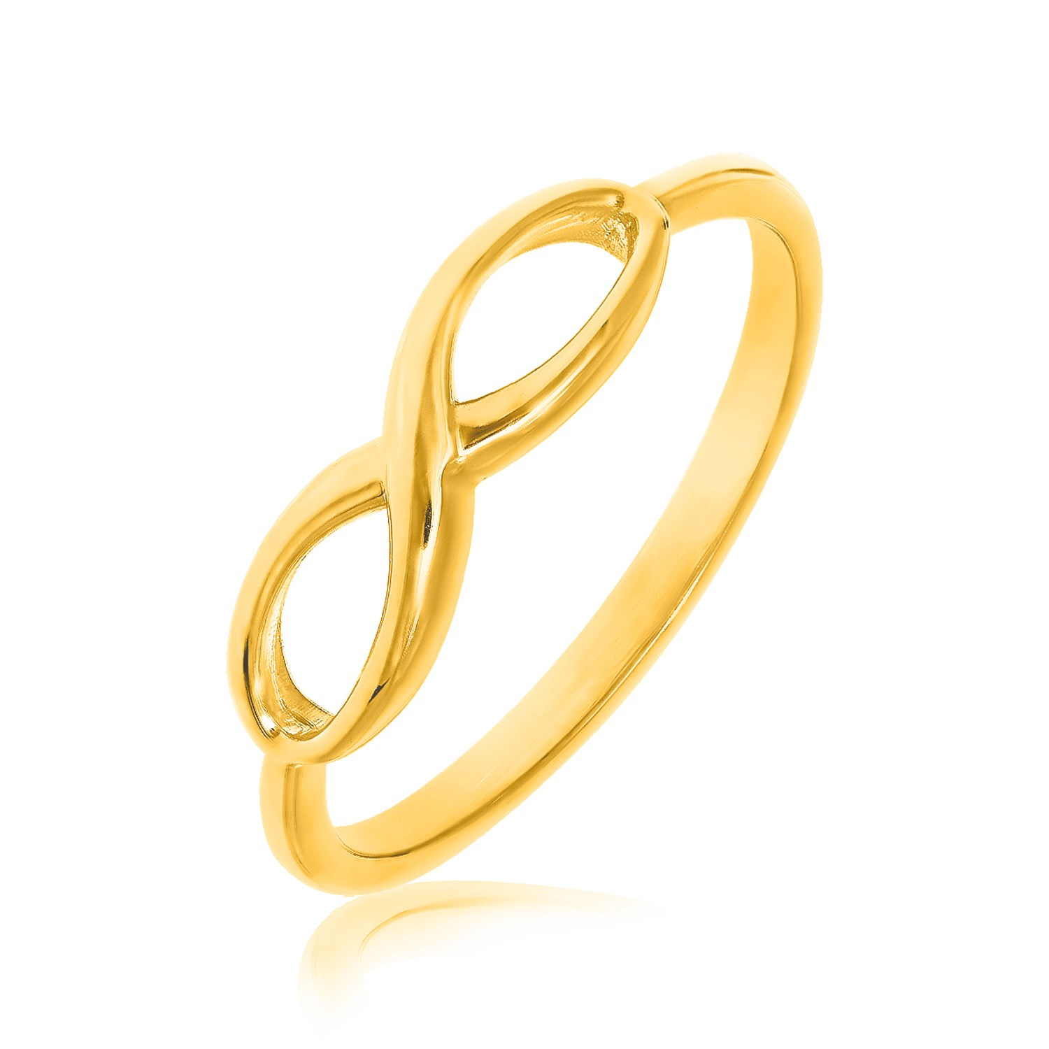 14k yellow gold infinity ring in high