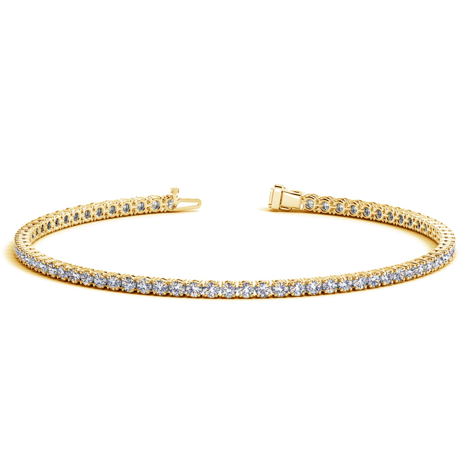 ct tw round diamond tennis bracelet p gold yellow
