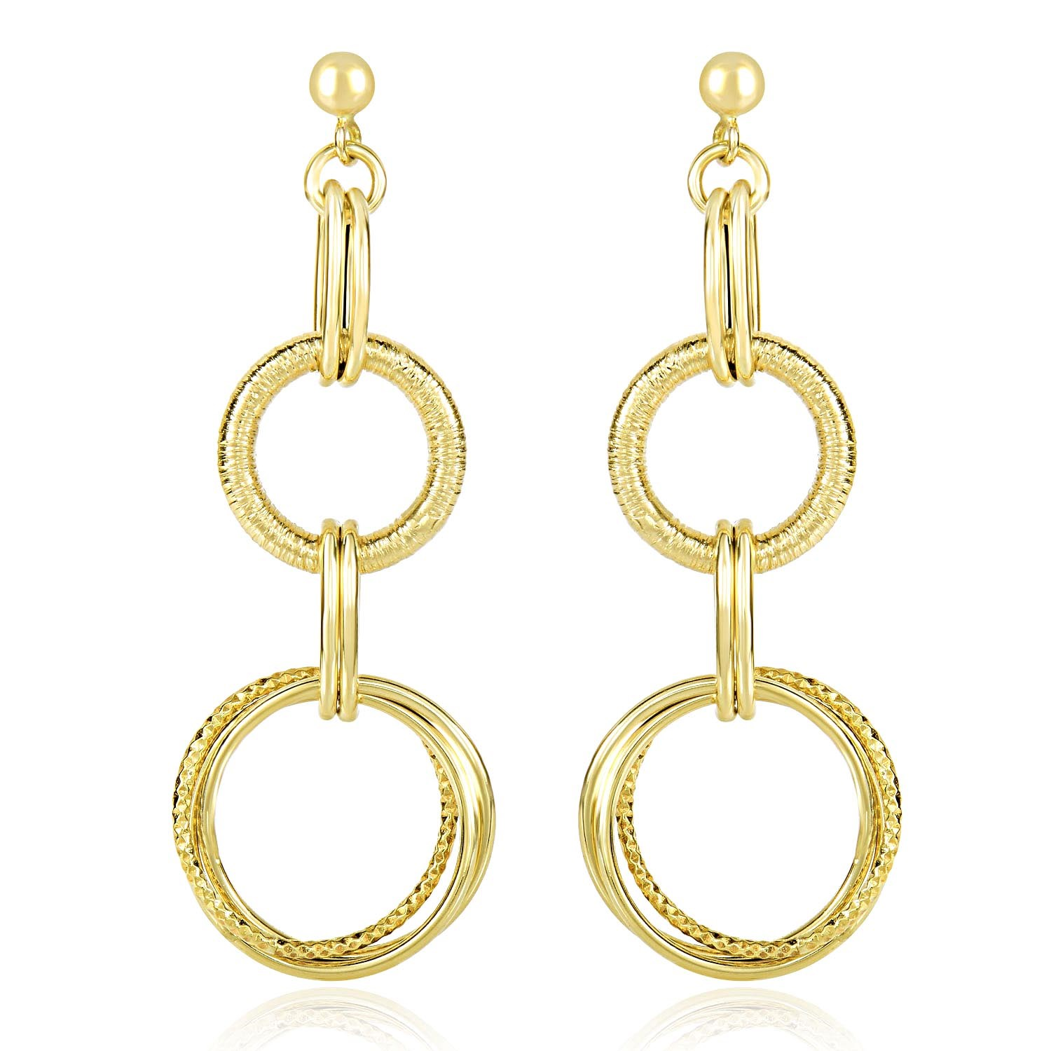 product zirconia gold cubic over silver disco flawless gp ball clear dangle earrings dangling