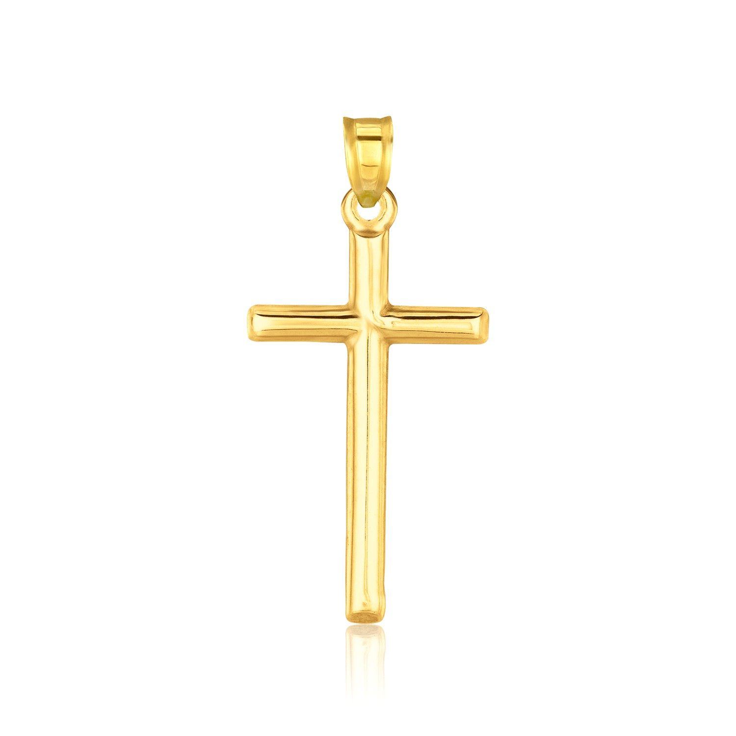 14k yellow gold high polished cross pendant for What is gold polished jewelry