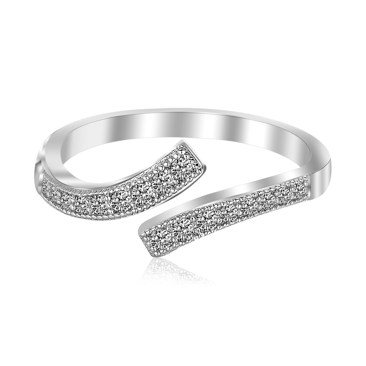 rings jewelry exclusive ladies rhodium large plated