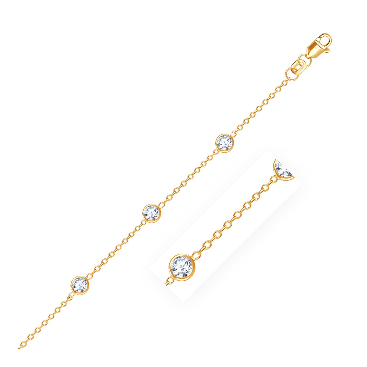 of solid variation tanzanite anklet charm chain natural fashion product galaxy gold heart bracelet