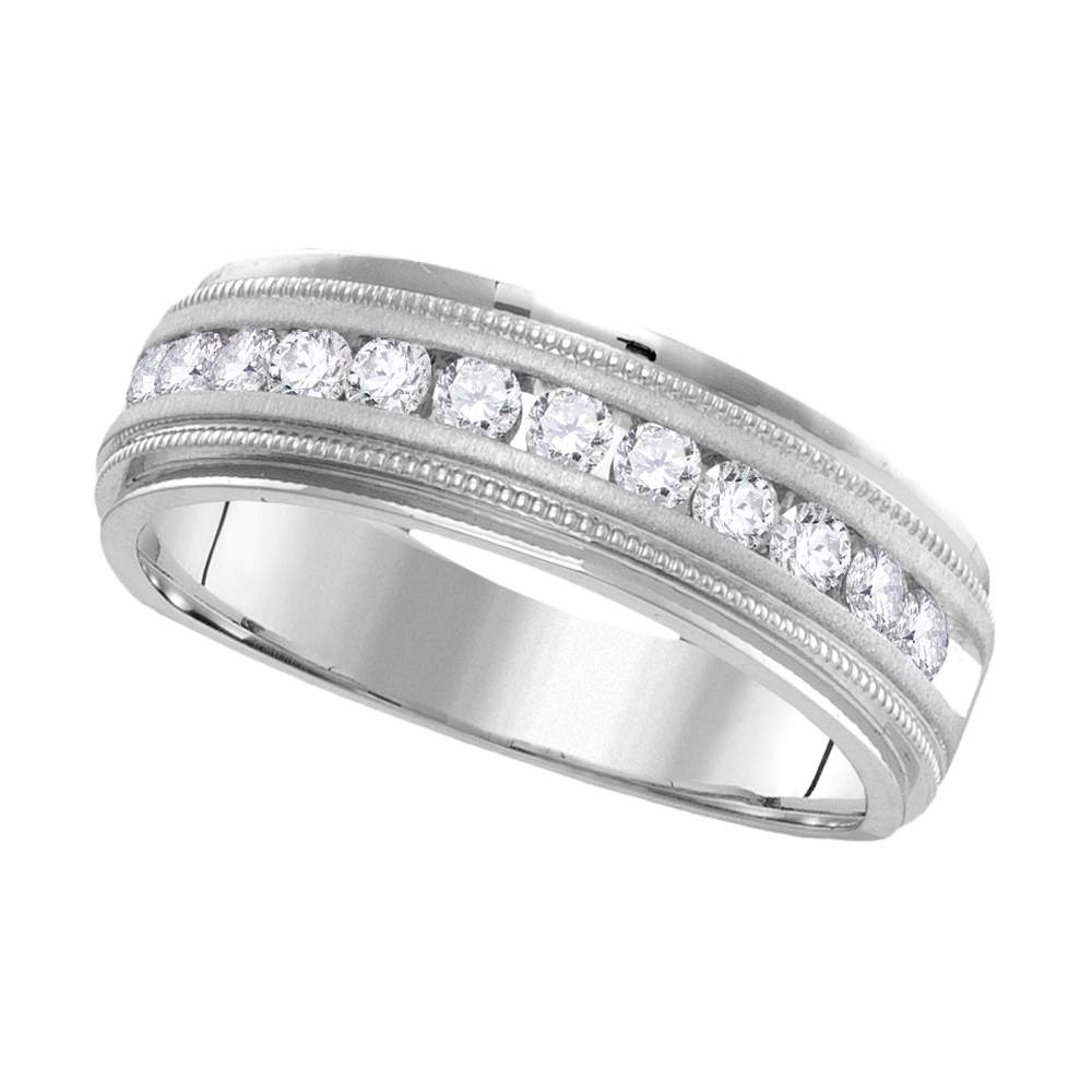 10kt White Gold Womens Round Diamond Two Row Quatrefoil Band Ring 1//10 Cttw