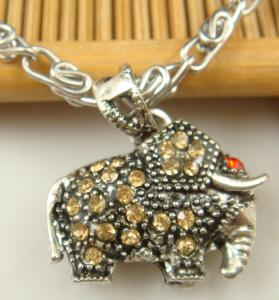 Elephant Rhinestone Necklace