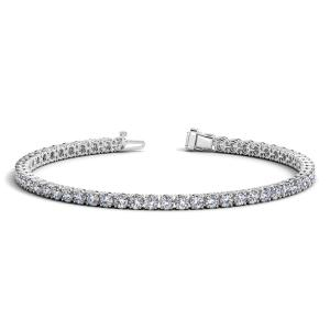 14K White Gold Round Diamond Tennis Bracelet (5 ct. tw.)