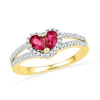 Gold Fashion Heart Rings