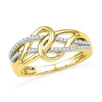 Gold Fashion Infinity Rings
