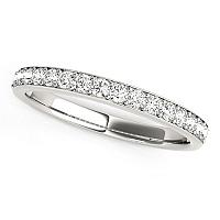 14K White Gold Prong Set Wedding Band with Diamonds (1/3 ct. tw.