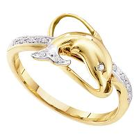 Gold Fashion Dolphin Rings
