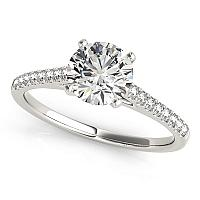 14K White Gold Pronged Round Diamond Engagement Ring (1 5/8 ct.