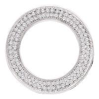 10kt White Gold Womens Round Diamond Circle Pendant 1/3 Cttw