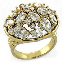 Women's Fashion Brass Cluster Cocktail Ring